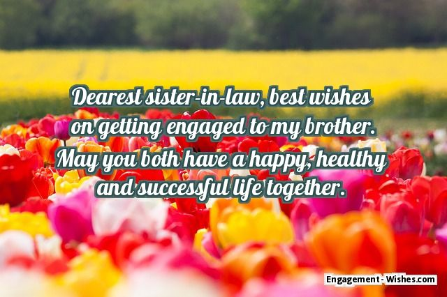 sister engagement wishes