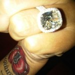 Monica Brown's Platinum 6 Carat Diamond Ring