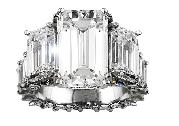 ciaras 15 carat emerald cut diamond ring