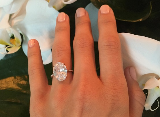 Julianne Hough's 7 Carat Oval Diamond Ring