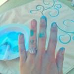 Nia Sanchez's 2 Carat Cushion Cut Diamond Ring