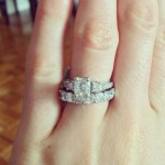 Katrina Bowden's 2 Carat Princess Cut Diamond Ring