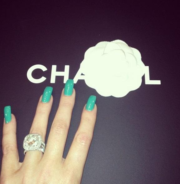 Khloe Kardashians 125 Carat Radiant Cut Diamond Ring The