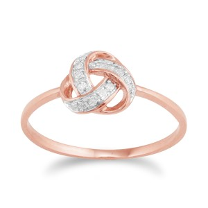 rose gold knot ring