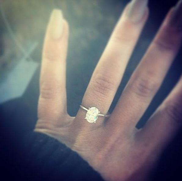 Chelsea Houska's 2 Carat Oval Cut Diamond Ring