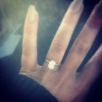 Chelsea Houska's 2 Carat Oval Cut Diamond Ring