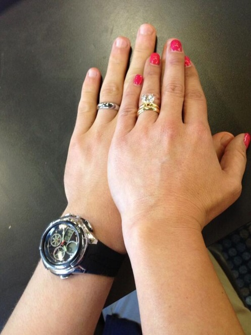 Danielle Fishel S 3 Carat Round Brilliant Cut Diamond Ring