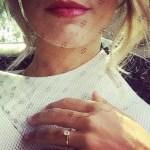 Ashley Hart's Round Cut Yellow Diamond Ring