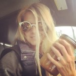 Eliza Coupe's Oval Cut Diamond Ring