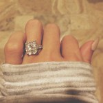 Paulina Gretzky's Cushion Cut Diamond Ring