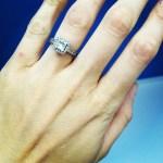Phoebe Dahl's 1.5 Carat Princess Cut Diamond Ring