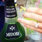 Candice Accola's Round Diamond Ring