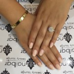 Jessica Parido's 4.5 Carat Cushion Cut Diamond Ring