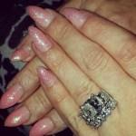 Amanda Davis' Emerald Cut Diamond Ring