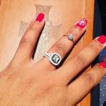 Chanel Shorts' Square Shaped Diamond Ring