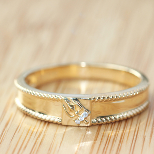 Genuine-18K-Yellow-Gold-5mm-Real-Diamond-Engagement-Wedding-Ring-For-Man-Mens-engagement-ring-gold