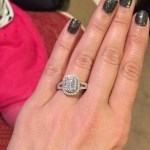 Jodie Sweetin's Emerald Cut Diamond Ring
