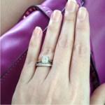 Carmina Villaroel's Emerald Cut Diamond Ring
