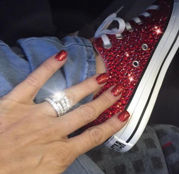 Katie Price S Pear Shaped Diamond Ring