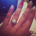 Dipika Pallikal's Cushion Cut Diamond Ring