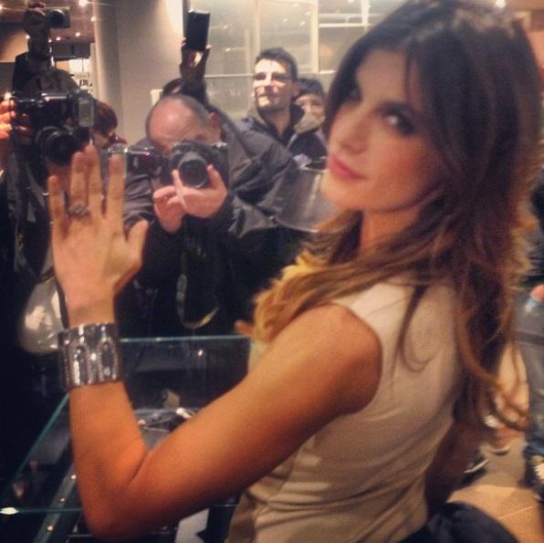 Elisabetta Canalis Engagement Ring