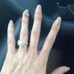 Heather Bilyeu's 5.5 Carat Round Brilliant Cut Diamond Ring