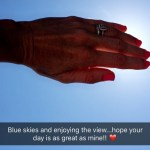 Elizabeth Kitt's Cushion Cut Diamond Ring
