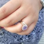 Jessica Kakkad's Oval Cut Amethyst Ring