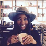 Pearl Modiadie's Round Cut Diamond Ring
