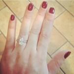 Chloe Tangney's Pear Shaped Diamond Ring