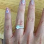Katy Fawcett's Square Shaped Diamond Ring
