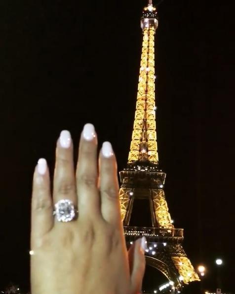 Adrienne Bailons 6 Carat Radiant Cut Diamond Ring