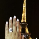 Adrienne Bailon's 6 Carat Radiant Cut Diamond Ring