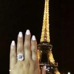 Adrienne Bailon's 6 Carat Radiant Cut Diamond Ring
