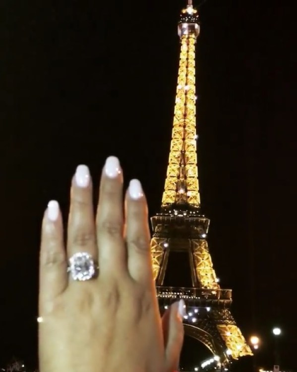 Adrienne Bailon S 6 Carat Radiant Cut Diamond Ring