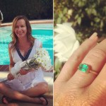 Angela Kinsey's Emerald Cut Emerald Stone Ring