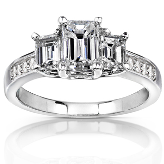 Annello-14k-Gold-1-3-4-ct-TDW-Emerald-cut-Diamond-Three-Stone-Engagement-Ring-H-I-SI1-SI2-P15077926