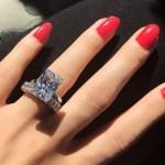 Courtney Stodden's Emerald Cut Diamond Ring