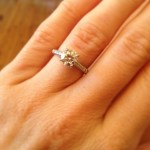 Jessica Anderson's Round Cut Diamond Ring