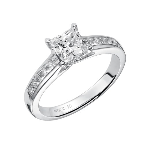 princess-cut-engagement-rings-Art-Carved-31-V410ECW