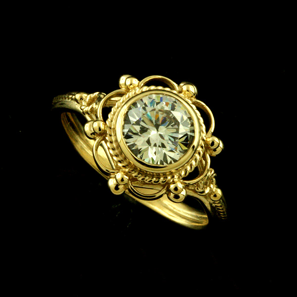 victorian-style-14k-yellow-gold-bezel-set-cubic-zirconia-synthetic-stone-engagement-ring