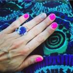 Brandi Burkhardt's Cushion Cut Amethyst Ring
