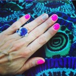 Brandi Burkhardt's Cushion Cut Amethyst Ring