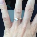 Katelin Snyder's Round Cut Diamond Ring