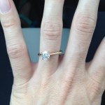Katelin Snyder's Round Cut Diamond Ring