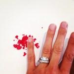 Kristi Townley's Square Shaped Diamond Ring