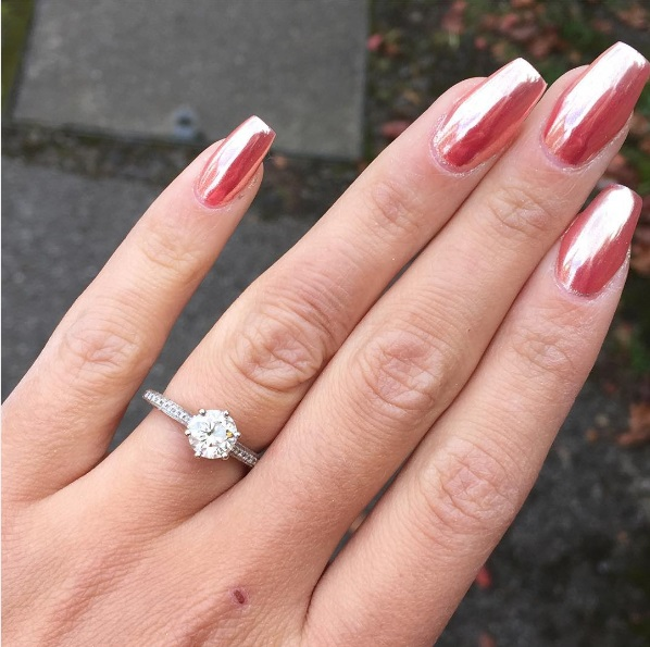 Bitsie Tulloch Engagement Ring