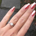 Caroline Daly's Round Cut Diamond Ring