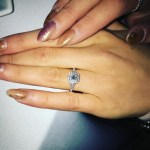 Olivia Buckland's Cushion Cut Diamond Ring
