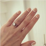 Zoe Lister-Jones' Round Cut Diamond Ring